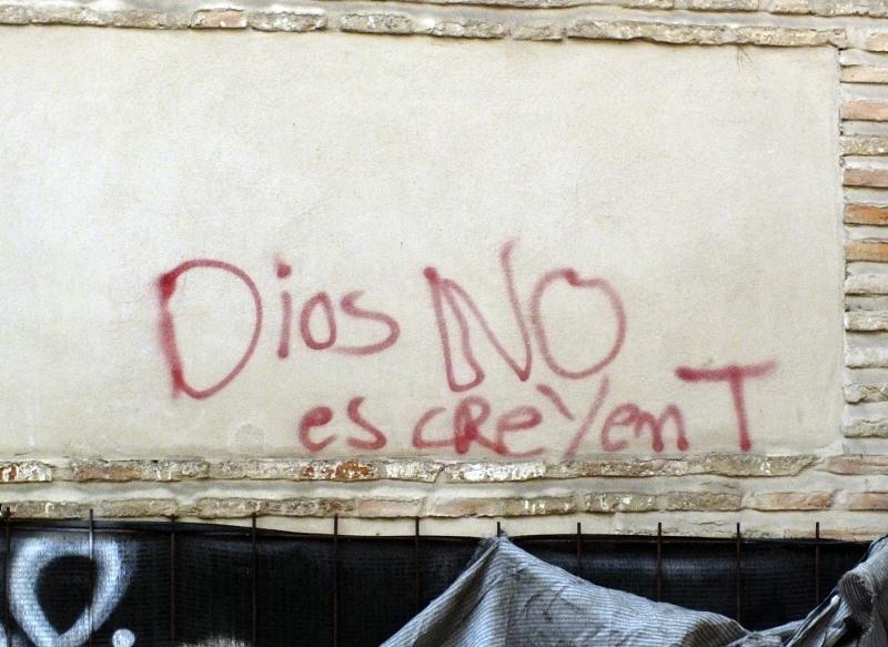 Pintada Dios no es creyente
