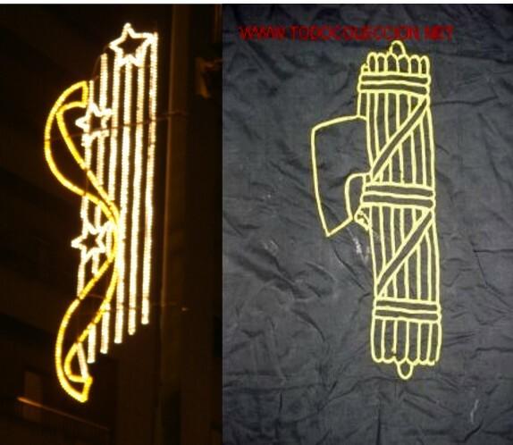 Parecidos razonables: luces y símbolo fascista