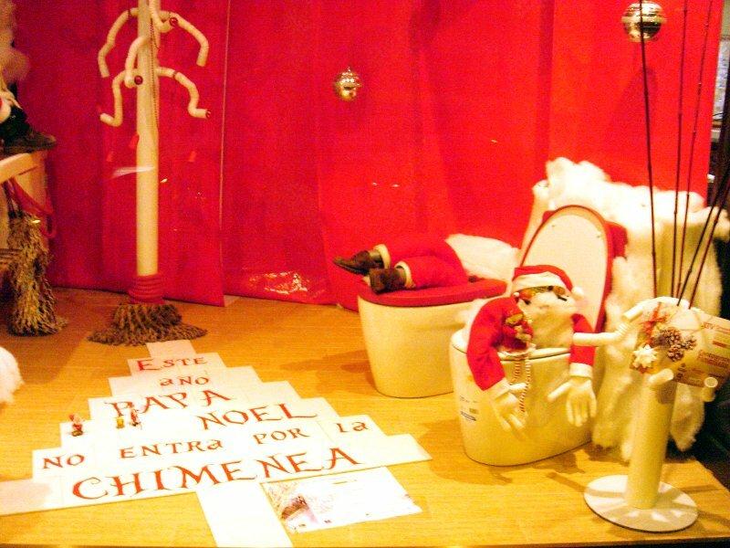 Papa Noel en una taza de váter