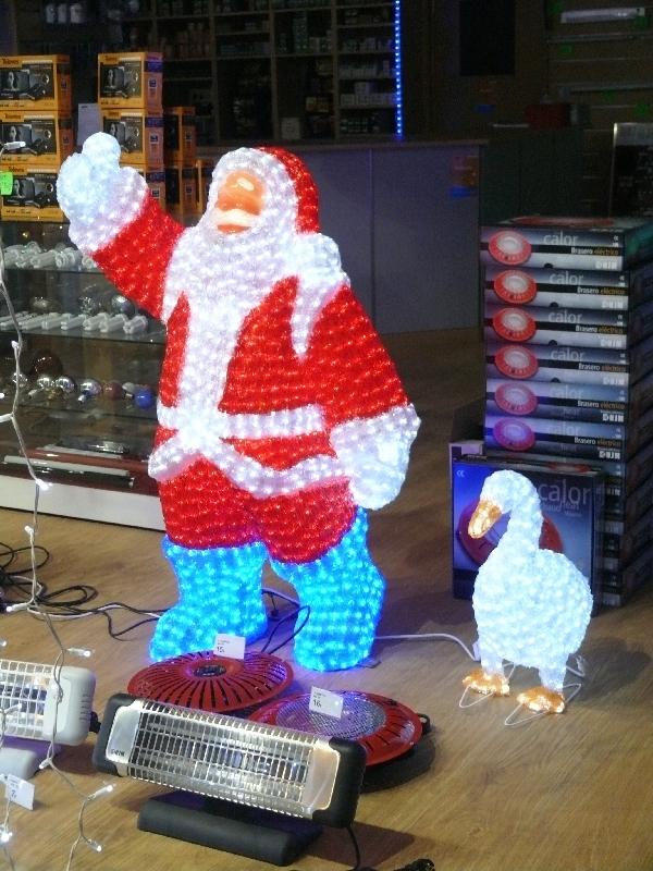 Papa Noel de LED