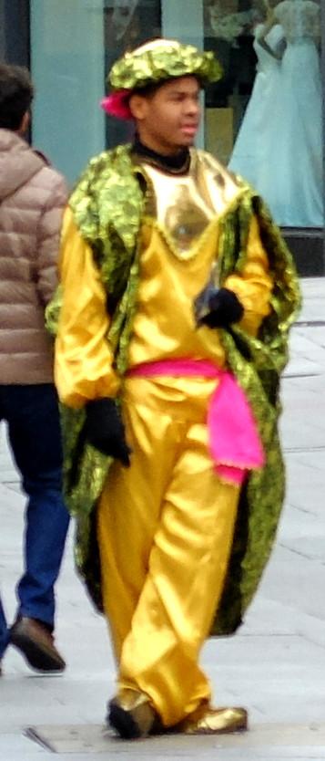 Mulato disfrazado de Baltasar