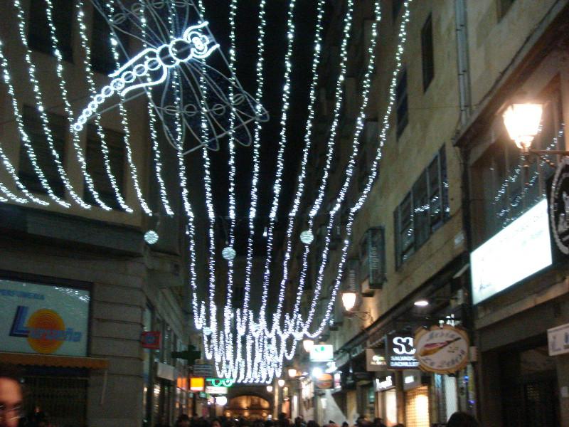 Palio luminoso en Salamanca